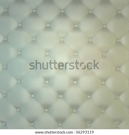 Sepia luxury buttoned white leather - stock photo
