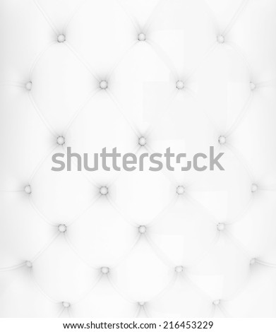 Sepia picture of genuine white fabric upholstery  - stock photo