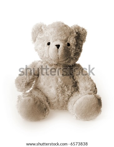 Sepia toned generic Teddybear - stock photo