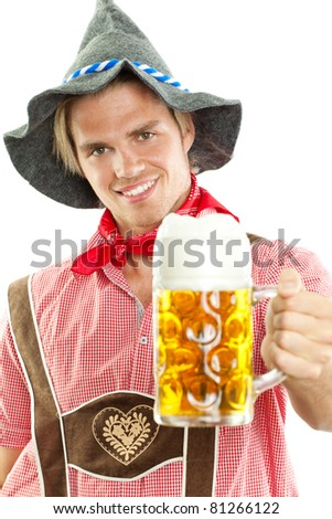 seppl beim oktoberfest - stock photo