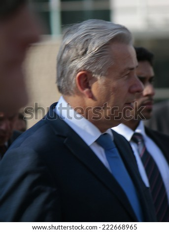 SEPTEMBER 17, 2014 - BERLIN: The Governing Mayor of Berlin,Klaus Wowereit at the Pariser Platz in Berlin, Germany.