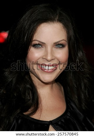 """September 6, 2006. Christa Campbell at the Los Angeles Premiere of """"The Black Dahlia"""" held at the Academy of Motion Picture Arts and Sciences in Beverly Hills, California.  - stock photo"""