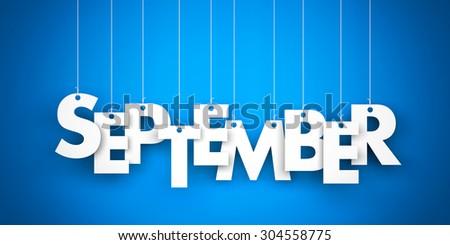 September - 3d word - stock photo