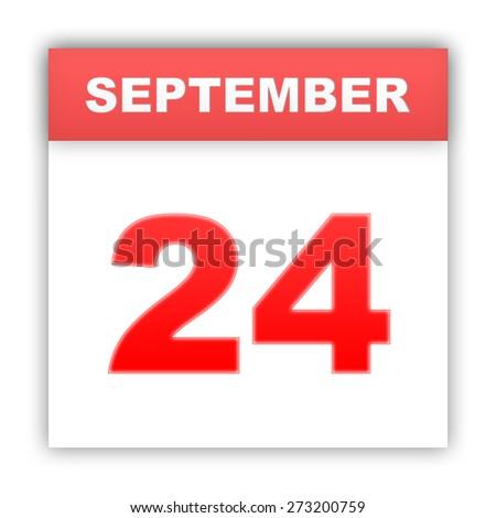September 24. Day on the calendar. 3d - stock photo