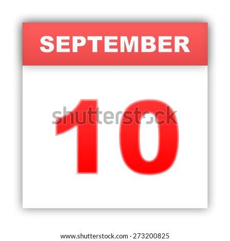 September 10. Day on the calendar. 3d - stock photo