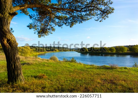 September landscape of Neris River in Lithuania