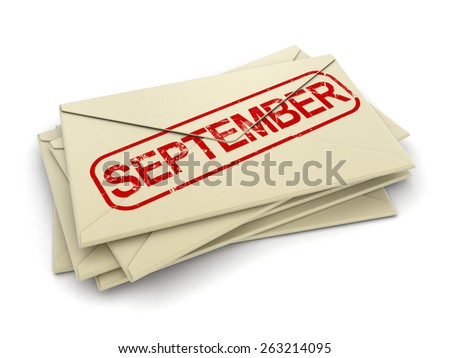 september letters  (clipping path included)