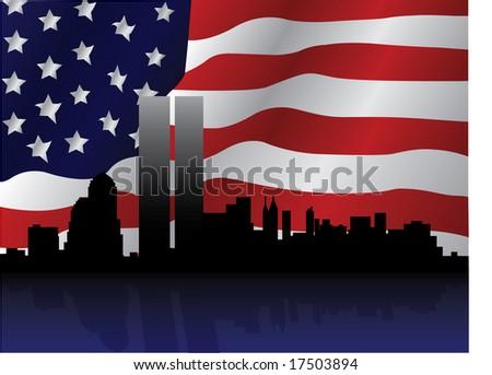September 11th Tribute - stock photo