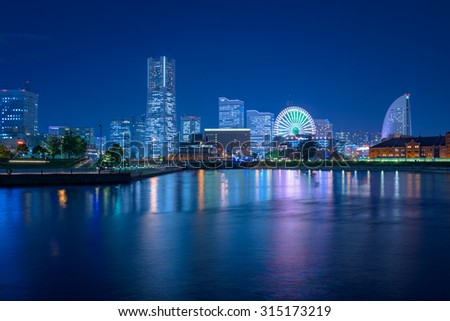 September 2015 (Yokohama, Japan) Yokohama Minato Mirai 21 views of the Night view