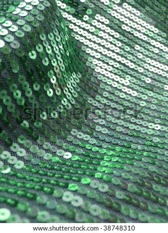 sequined drapery closeup. More of this motif & more sequins in my port. - stock photo