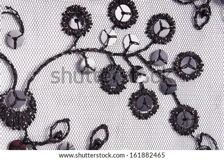 sequins fabric texture - stock photo