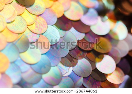sequins pattern texture - stock photo
