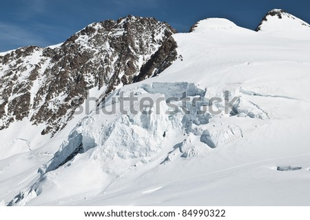Seracs near to the summit