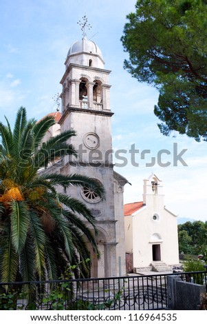Serb Orthodox Savina monastery in Montenegro, Europe - stock photo