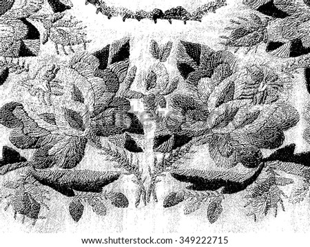 Serbian folk seamless pattern ornaments. Serbian traditional embroidery. Ethnic texture design. Floral ornament.