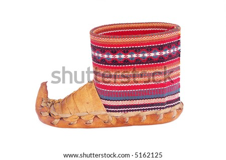 Serbian Traditional Shoes - stock photo