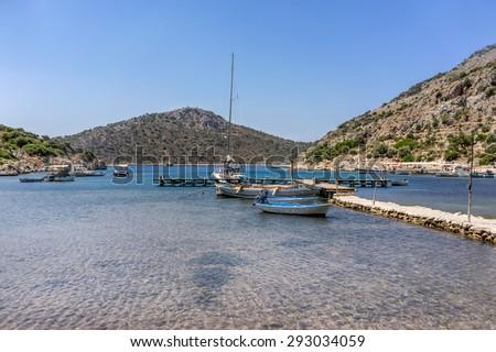 Serce marina on the south coast of the Brozburun peninsula in Turkey - stock photo