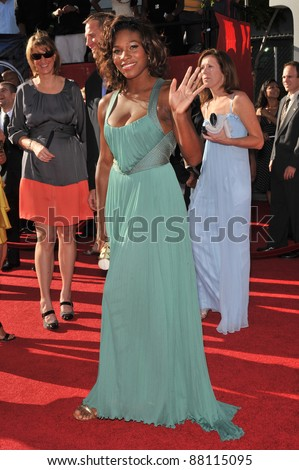 Serena Williams at the 2009 ESPY Awards at the Nokia L.A. Live Theatre, Los Angeles. July 15, 2009  Los Angeles, CA Picture: Paul Smith / Featureflash - stock photo