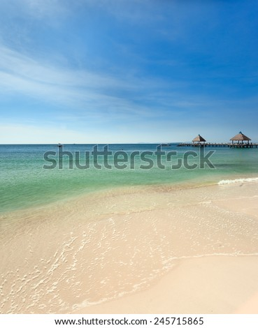 Serene view of seaside in Southeast Asia - stock photo
