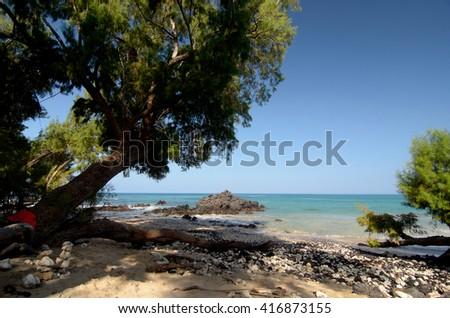 Serenity of Puako Beach, Big Island, Hawaii - stock photo