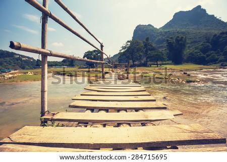 Serenity river in Vietnam - stock photo