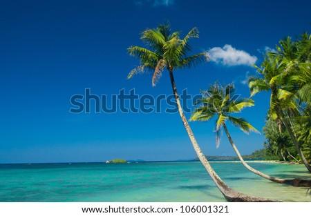 Serenity Shore Green Getaway - stock photo