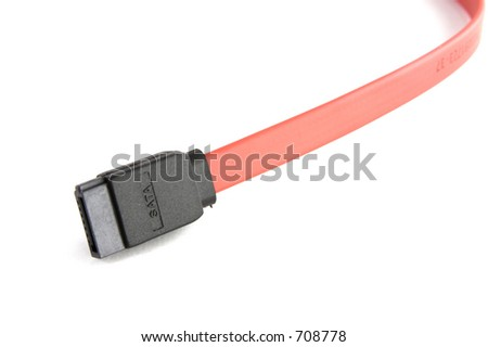Serial ata connector - stock photo