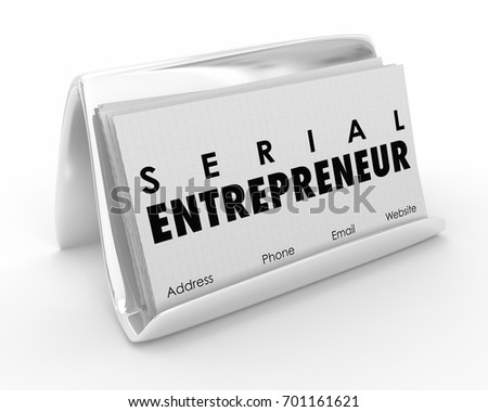 Serial entrepreneur business cards startup expert stock illustration serial entrepreneur business cards startup expert 3d illustration reheart Choice Image