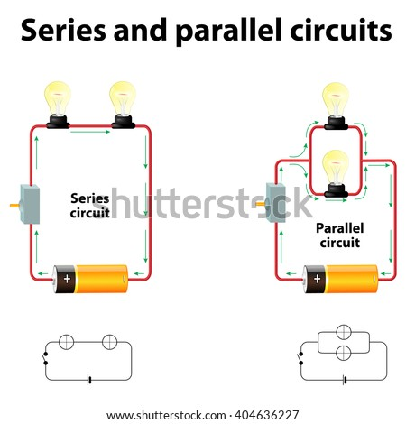 series parallel circuits stock illustration 404636227 shutterstock parallel electrical circuit series and parallel circuits