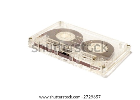 series object on white: Audio tape