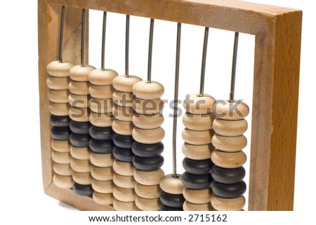 series object on white: isolated -accounts fig close up - stock photo