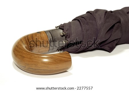 series object on white: isolated - Man's accessory -umbrella - stock photo
