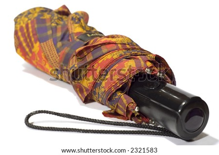 series object on white: isolated - woman's accessory -umbrella - stock photo