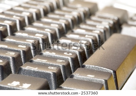 series: object on white: keyboard with function key - stock photo