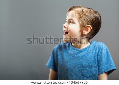 Series of a Little Boy, Expressions - Happy Surprise, looking sideways