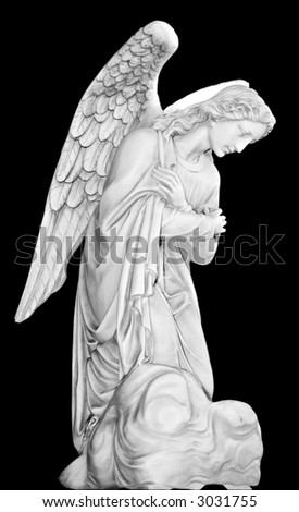 Series of Cemetery Angels from New Orleans - stock photo