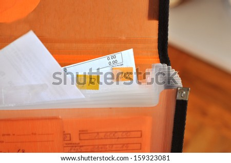 Series of office folders - stock photo