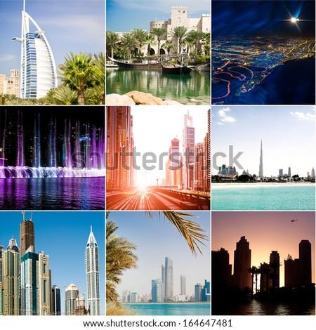 series of photos from Dubai. UAE - stock photo