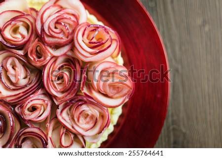 Series on Rose Apple Tart - stock photo
