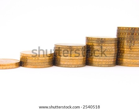 "series with columns of ""gold"" coins"
