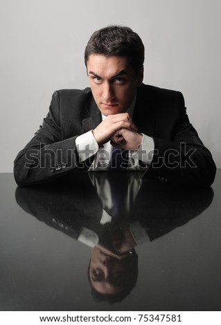 Serious businessman - stock photo