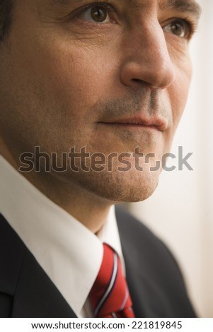 Serious Caucasian businessman - stock photo