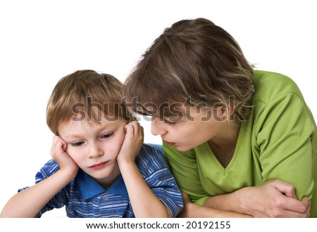Serious conversation - stock photo