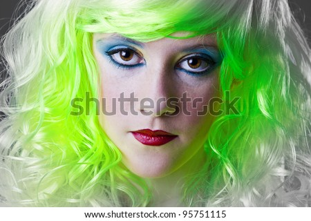 serious green fairy girl ecologic