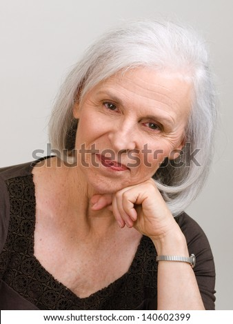 Serious Handsome Man in Forties, with Goatee and wearing Black - stock photo