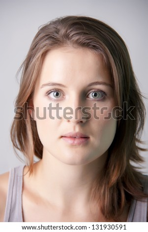 Serious looking Woman - stock photo