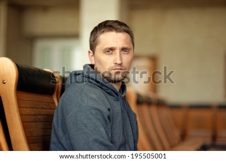 serious man - stock photo