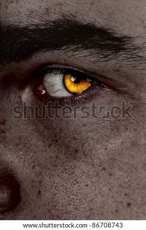 serious sad and angry looking man - stock photo