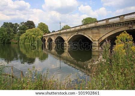 Serpentine Bridge, London - stock photo