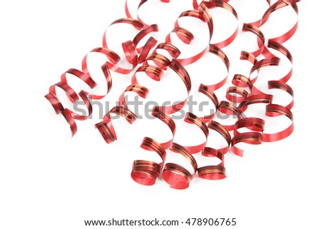 serpentine ribbon  isolated on white background. Holiday concert